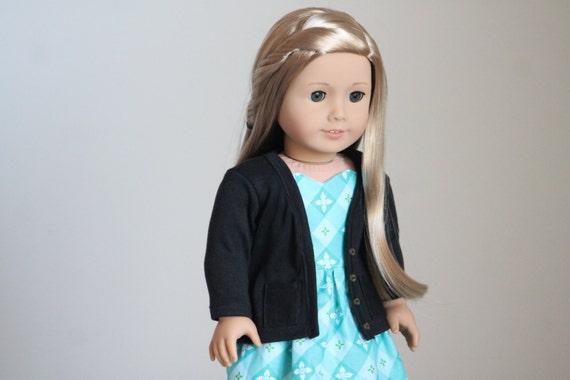 Black Cardigan for American Girl Dolls