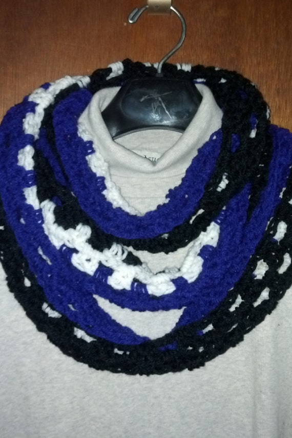 infinity scarf baltimore ravens purple black by