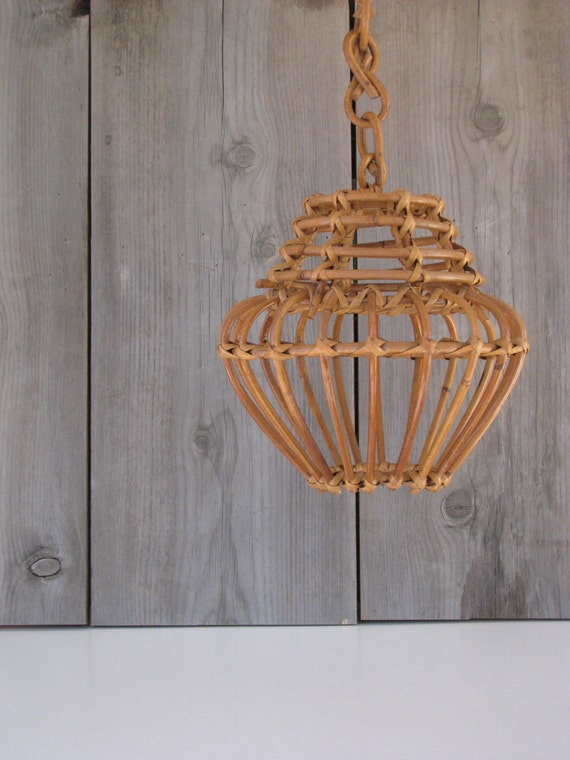 Rattan Pendant Light Wicker Hanging Latern From By