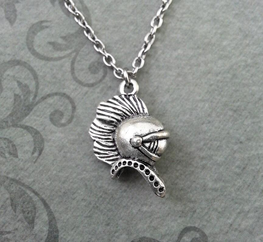 spartan necklace small silver spartan helmet necklace