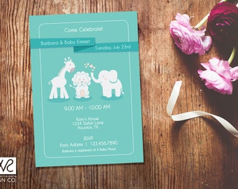 Custom Baby Shower Invitation /Baby Announcements - Printable Digital File