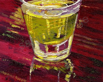 Shot in the Dark, Banana - Digital enhancement of original oil painting Shot In The Dark by English Artist Claire Strickland