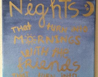 Friendship Quote Canvas