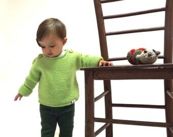 Merino wool knitted baby sweater/Girl sweater/Boy sweater