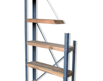 KONK! -De-constructed Oak/Steel Industrial Bookcase [Bespoke sizes available!]