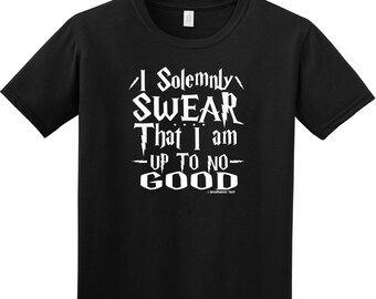 FUNNY Harry Potter T Shirt Solemnly Swear I'm up to no good 3 Colors Muggle FREE SHIPING