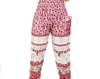 Flower Strips Comfy Yoga Pants Wide Leg Pants  (YG01-6)