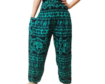 Green Comfy Yoga Pants Wide Leg Pants  (YG01-18)