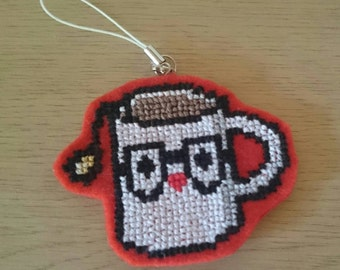 Cute Hipster Teacup Mascot