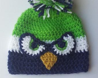 Seahawks baby, Seahawks baby hat, seahawks baby gift, 0 - 12 months, id: 218681381