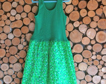 Made to Order Girls Dress - Tank Dress - Sleeveless Dress - Summer Dress - 8-Bit Video Game