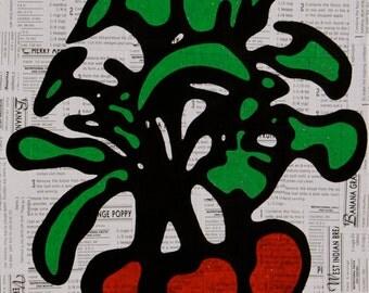Radish Mixed Media Painting