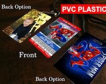 Spiderman Invitation PLASTIC!!! Personalized Spiderman Birthday Party Invitation Custom - Photo Invitation