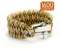 Wide paracord bracelet - Double wide paracord bracelet with real stainless steel buckle. Top quality, teg, box, 1600 colors!