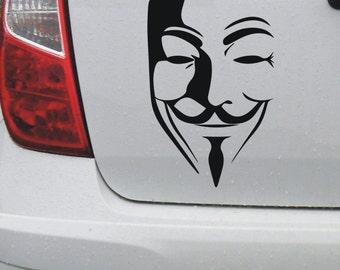 V for Vendetta, Anonymous, guy fawkes, legion, vinyl decal sticker #1 - DEC1098