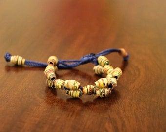 Children's Recycled Magazine Beaded Bracelets