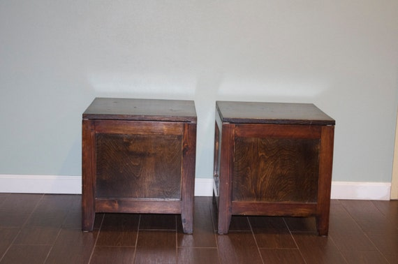 Wooden Storage Cube Side Or Coffee Table