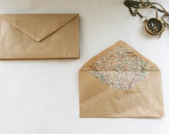 set of 6~Wanderer's Map Envelopes