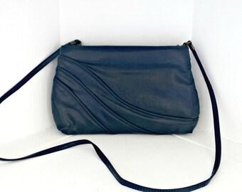 Vintage Holiday Fair Inc. LePrive Navy Blue Shoulder Bag Clutch