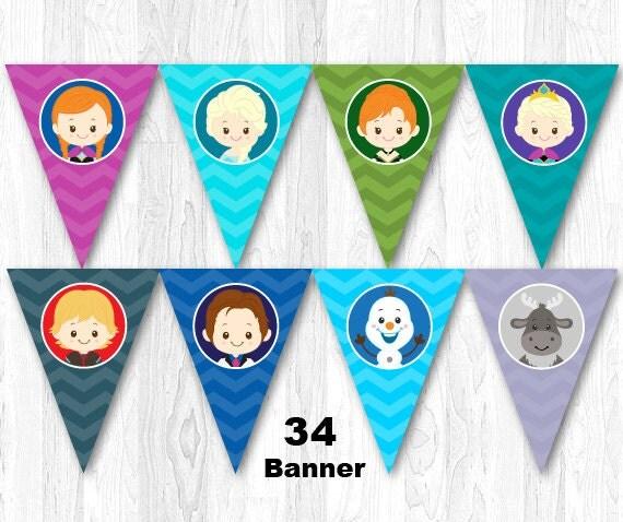 Frozen Banner Frozen Bunting Frozen Birthday Party Banner