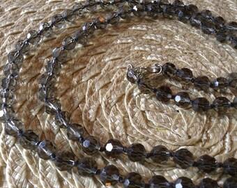 Smoky Glass Bead Necklace
