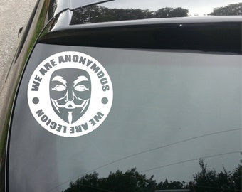 We Are Anonymous. We Are Legion Decal for Car/Home/Window