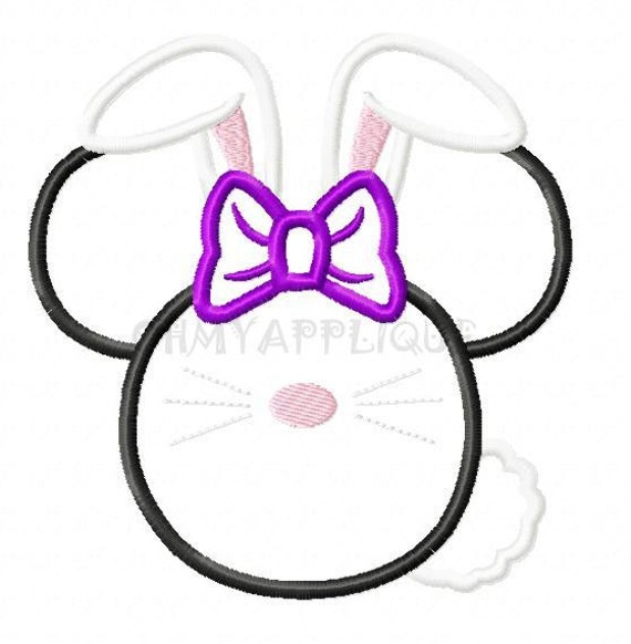 Character Applique Design : Character bunny embroidery applique design