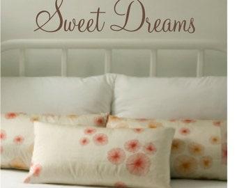 Sweet Dreams Bedroom Wall Art Sticker / Wall Quote / Wall Decal  - WA012X