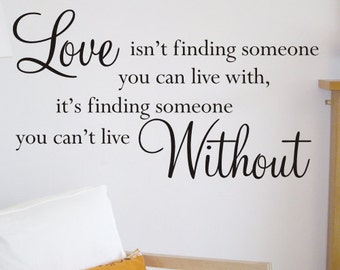 Wall Sticker | Wall Art | Wall Quote Decal  Love isn't  - by Createworks WA505X