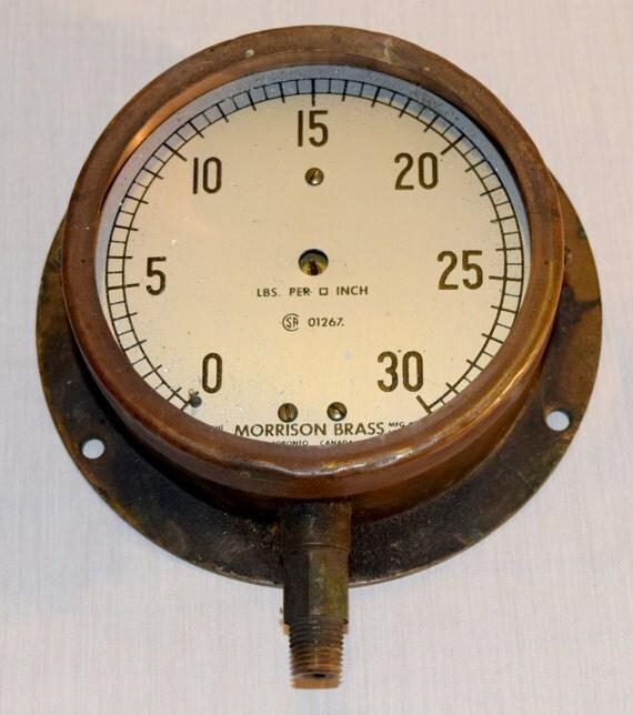 Steampunk pressure gauge antique by morrison by cdnvintagepickers - Steampunk pressure gauge ...