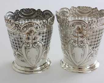 Rare Victorian Fern Pot holders by James Dixon  1898