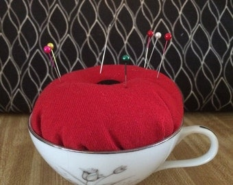 Tea Cup Pincushion
