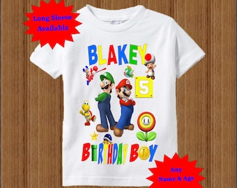 Super Mario Brothers Birthday Shirt