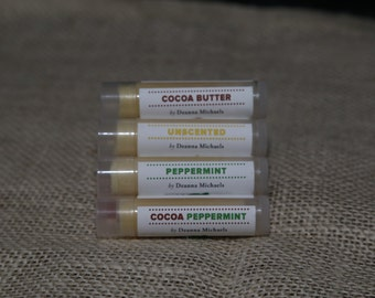 Set of 3 All Natural Lip Balms