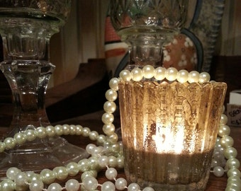 Gold Murcury Votive/Candle Holder