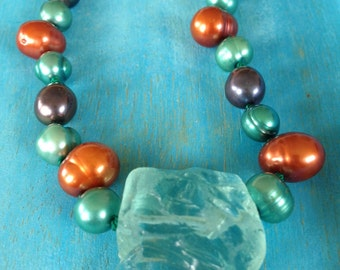 Fresh Breeze of Spring Pearl Necklace (One Of A Kind)