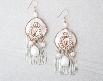 Hera Gold Linear Earrings