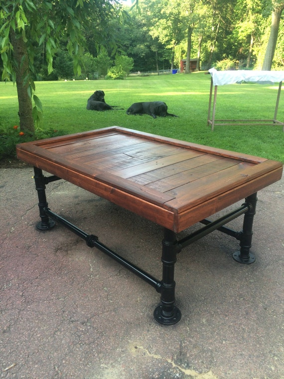 Delightful Items Similar To Black Iron Pipe Coffee Table On Etsy