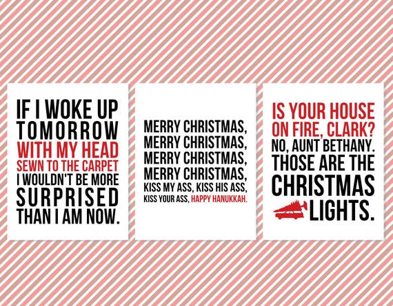 Ordinaire Christmas Vacation Quote Wall Art Signs   Printable Christmas Wall Quotes    Christmas Movie Quotes   Printable Movie Quotes   Typography Art