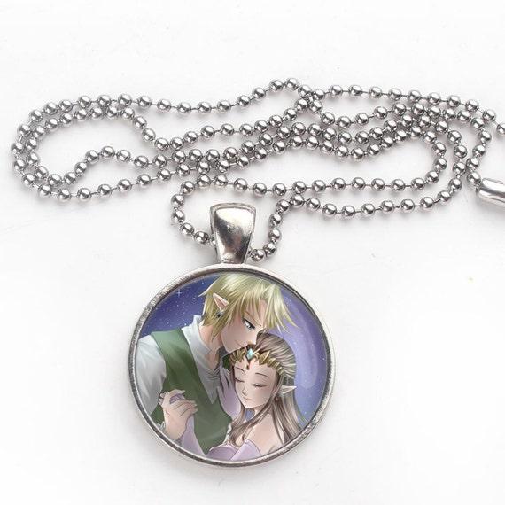 Princess Zelda Jewelry: Legend Of Zelda Link Princess Pendant Ball Necklace By