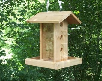 Large Bird feeder with platform