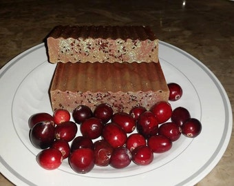 100% Natural Handcrafted (Cranberry) Soap