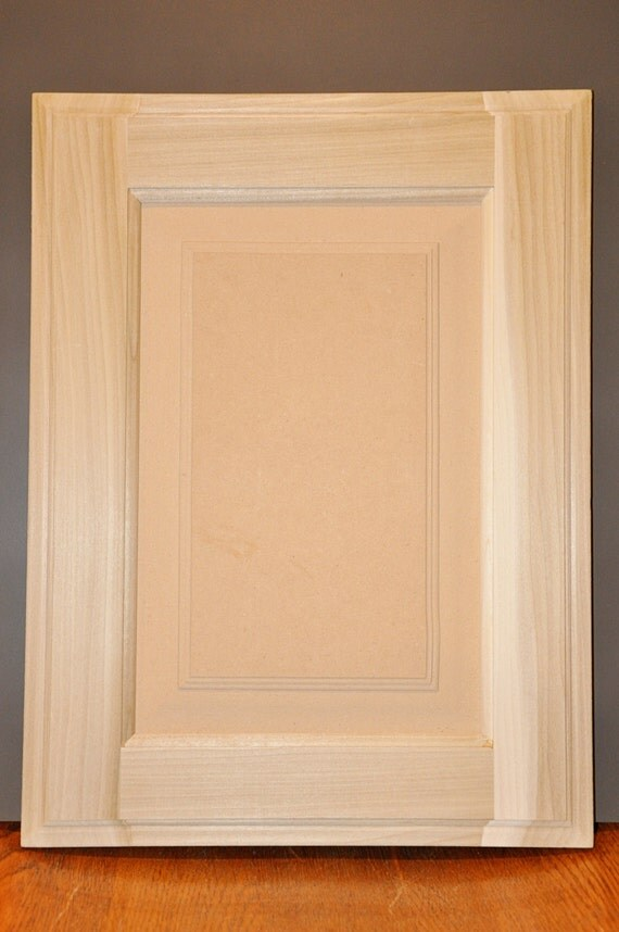Raised Panel Style Door Unfinished Paint Grade Cabinet