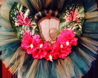 Hawaiian floral wreath