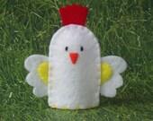 Rooster Chicken Finger Puppet - Chicken Puppet - Felt Rooster Finger Puppet - Farm Animal Finger Puppet - Felt Animal Puppet