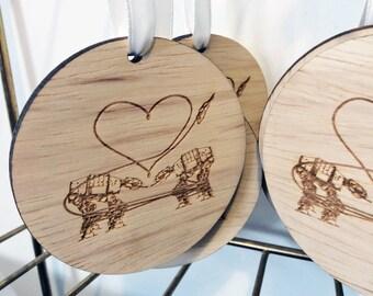 Star Wars Laser Cut Wood Ornament: Star Wars Party Favor, ATAT Walker, AT-AT Walker, Star Wars Ornament