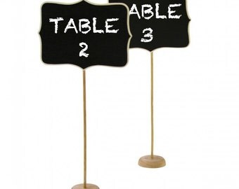 Chalk Board Table Numbers Rustic Wedding Decor Chalkboard Decoration