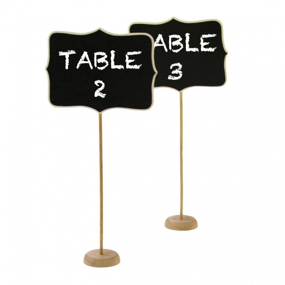 Chalk board table numbers rustic wedding by for Table numbers
