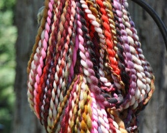 Sugarplum Whirlspun Yarn - hand dyed - handspun - bulky - sw merino nylon (140 yds 6.75 oz)
