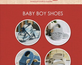 Baby Booties for Boy - 4 Patterns